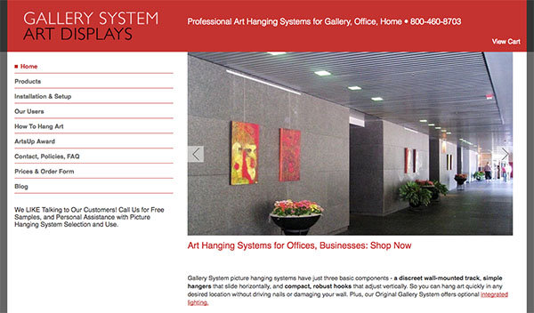 Gallery System website