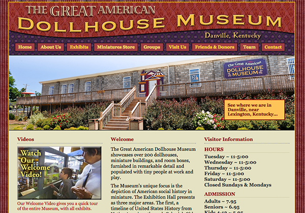 Dollhouse Museum Website