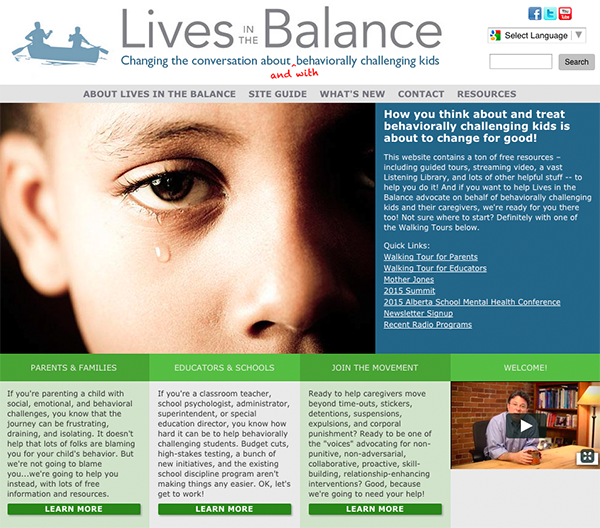 Lives in the Balance Website