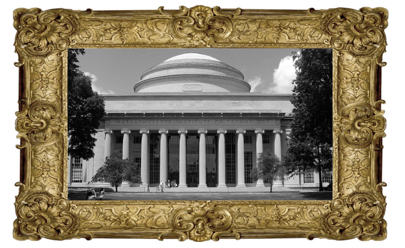 MIT in a picture frame